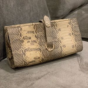 Jimmy Choo python cosmetic pouch